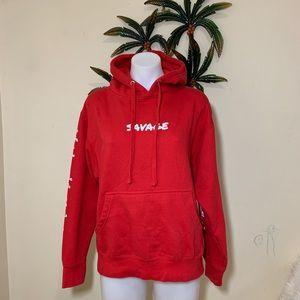 Young & Reckless 21 Savage red hoodie sweatshirt